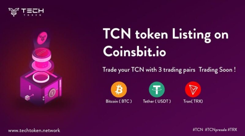 Coinsbit and TCN Announce Their New Partnership to List TCN Tokens.