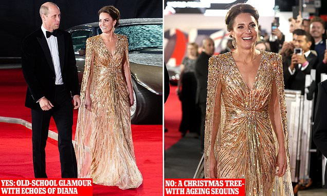 All eyes were on the Duchess, but was she the… Girl with the golden gown – or Dr Oh No? | Daily Mail Online