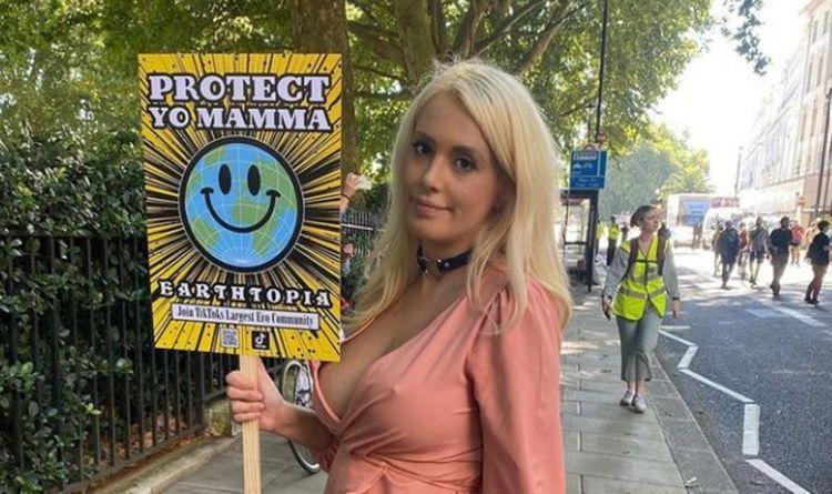 Topless Extinction Rebellion protester vows hunger strike – 'I'm really scared'